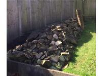 Dry stone walling rocks