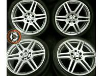 "18"" Genuine AMG/Mercedes alloys, refurbished fine silver, staggered fitment, with tyres."