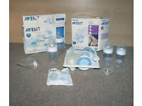 Avent Breast Pump and Bottles