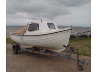 Orkney Fastliner Fishing boat,Trailer,Honda 15 HP Outboard, Fishfinder, Ship-Shore Radio, Tank&Line