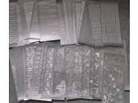 Assortment of silver outline stickers