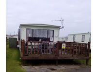 8 berth 3 bed caravan,ingoldmells,millfields park,DOG FRIENDLY, 7-10th oct £100,part wks available