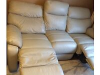 Leather recliner sofa from Harveys