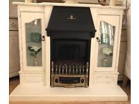 upcycled shabby chic fire suite