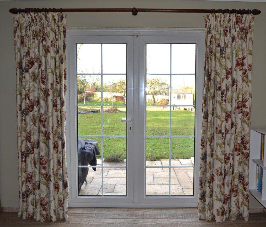 Laura Ashley Gosford Paprika Curtains Deep Triple Pleat