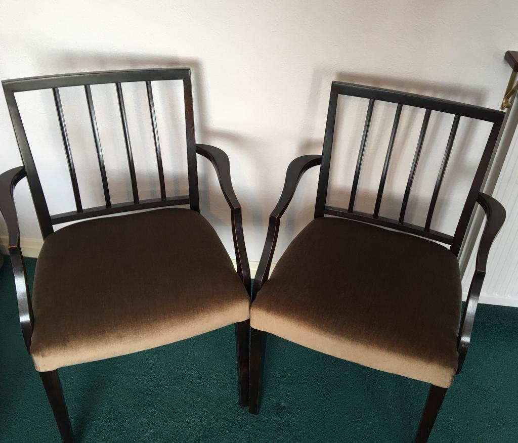 Wooden upholstered chairs
