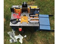 Workzone Router, Router Table & Box of Router Cutters