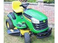 John Deere X145 Ride on Lawnmower - Lawn mower - Only 39.6 Hours - Excellent Working Order