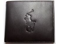 RALPH LAUREN WALLET BROWN LARGE HORSE - POST ANYWHERE IN THE UK £3 EXTRA