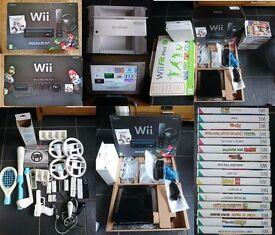 Massive Mario Kart Wii Pack Bundle + Accessories & Games + New Accelerator Gun