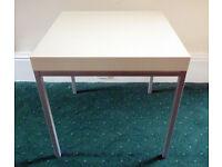 Steel framed Ikea Klubbo Side/Coffee table. White