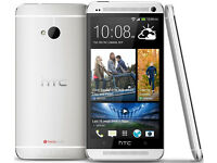 HTC ONE M7 SILVER GRADE A+ PERFECT CONDITION ALL NETWORKS 64GB