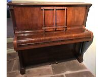 Mickleburgh of Bristol wooden upright piano early 20th century