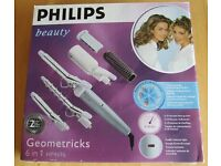 NOW REDUCED! As New PHILIPS 6-IN-1 HAIR STRAIGHTENER/CURLER in box, ONLY £15!!!
