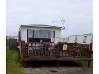 8 berth 3 bed caravan,ingoldmells,skegness,DOG FRIENDLY,sat to sat 2-9th june £195,