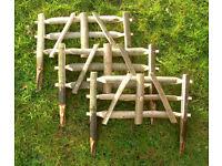 "14"" Rustic Chestnut Wooden Garden Fence Gate Hurdles"