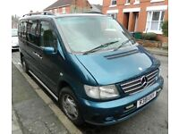 Mercedes Benz Vito Ambiente, 7 seater, 2.3 automatic, petrol, turquoise, spares or repairs