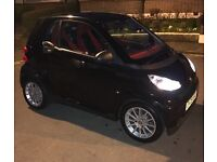 SMART Car ForTwo Coupe, Black with Red interior