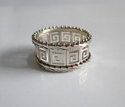 Griechische Muster (Griechische Ring / Griechische Muster  Silberfarbe)