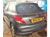 Peugeot 207, grey colour, 5 doors, 2007 year, Breaking and I'm selling for parts