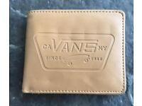 Classic Unisex VANS Logo Full Patch Tan Brown Bi-Fold Wallet for sale  Perth and Kinross