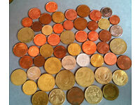job lot of coins and banknotes