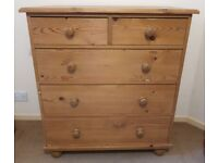 Pine Five Drawer Chest