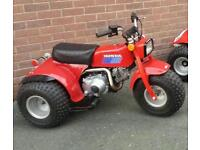 Honda atc70 trike 125m engine fitted headlight tool box repainted and powder coated new seat cover