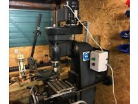 Marlow Milling Machine 240V with x power feed, ER32 collet and vice