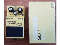 Boss SD-1 - Double Stacked Super Over Drive Guitar Pedal.