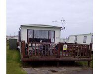 8 berth 3 bed caravan,ingoldmells,skegness,DOG FRIENDLY,1-8 July £295 special,sat to sat wks only
