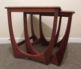 G plan retro style nest of 2 tables coffee table wooden occasional table FREE DELIVERY WITHIN LE3