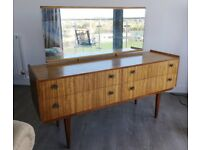 1970s Style Retro Wooden Sideboard/ Dresser/ Cabinet with Drawers URGENT