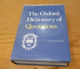 The Oxford Dictionary of Quotations 2nd Edition