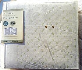 Beautiful wedding photo album with hearts, new in box