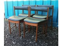 Set of Four Teak McIntosh Dining Chairs