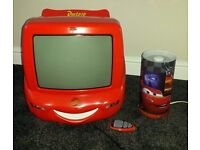 Boys Lightening McQueen TV/DVD and Lamp
