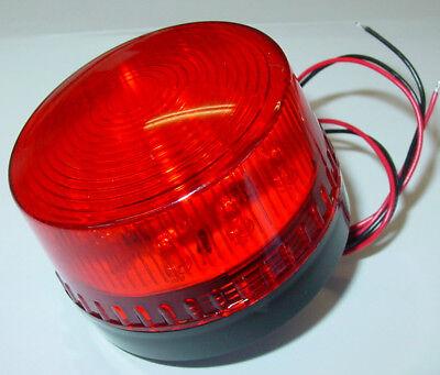 Stroboskop Blitzer 12V, Strobe Blitzer Rot, LED, 70mm, Blitzer Signalleuchte B4