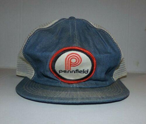 Vintage Pennfield Farms K Brand Trucker Snapback Cap Hat #2