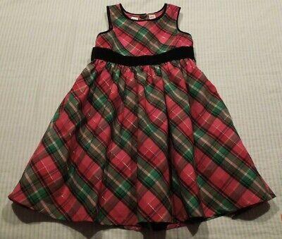 OshKosh Girls Dress Size 5 Red Green And Black Plaid
