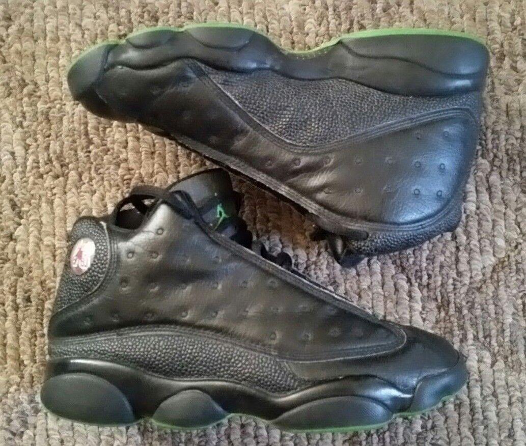 separation shoes a59d9 3f61f ... SZ 8 BLACK ALTITUDE GREEN OG TAXI 310004-031 2005 NIKE AIR JORDAN RETRO  13 XIII SZ 8 BLACK ALTITUDE GREEN OG TAXI 310004-031 2005 NIKE AIR JORDAN  RETRO ...