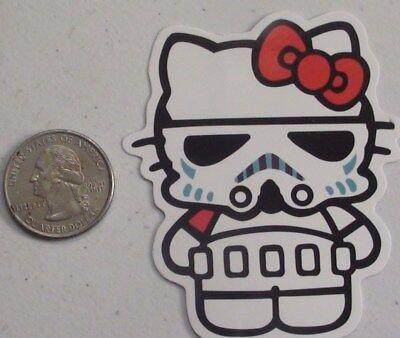 hello kitty sticker stormtrooper star wars cell laptop bumper skate vinyl decal](Hello Kitty Stormtrooper)