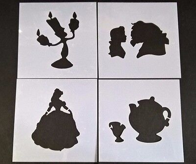 Beauty and the Beast Stencil Card Making Scrapbooking Airbrush Painting Home Art