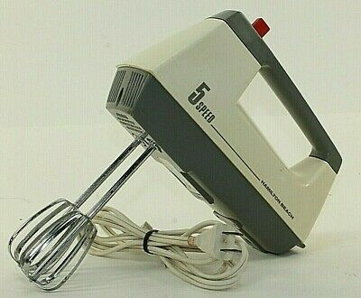 Vintage Hamilton Beach 152 Portable Hand Mixer 5 Speed Handheld Kitchen USA Bake Kitchen Portable Hand Mixers