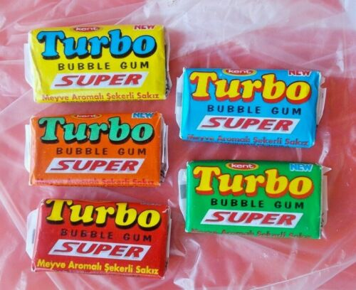 Full Gum Vintage Chewing Bubble TURBO 2007 SUPER (with super) 5 colour SET