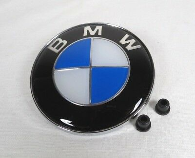 NEW BMW EMBLEM+GROMMETS 1 3 5 6 7 SERIES X3 X5 HOOD/TRUNK BADGE sign symbol logo