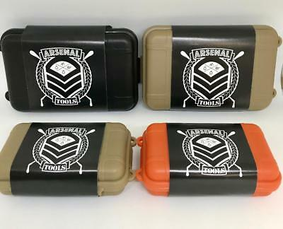 ARSENAL TOOLS Portable Water Proof Air Tight Box Hard Case Odor -