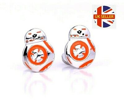 NEW Star Wars BB8 Robot Cufflinks Formal Comic Shirt Suit Jedi Rebel 🇬🇧