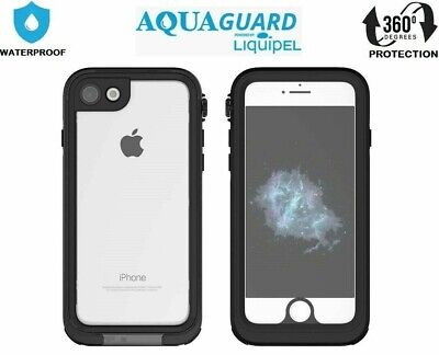 AquaGuard iPhone SE 2nd Gen (2020) 360° Shockproof Waterproof Case Cover Black