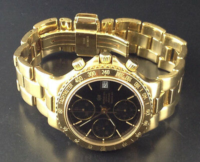 Raymond Weil Amadeus 200 Gold Mens Automatic Chronograph Watch Valjoux 7750